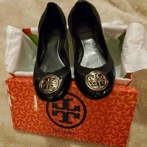 Tory Burch Caroline Naplak Black Patent Leather